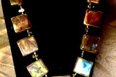 Polymer-and-resin-with-citrine-chips-and-base-metal-beads