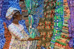 At the Ethnic Fabric Market